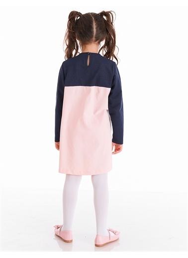 Denokids Payetli Catcorn Kız Elbise Pembe